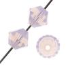 Preciosa Machine Cut bead Rondell 4mm Rose Opal